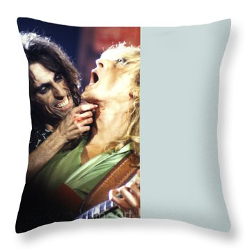 Alice Cooper 1975 Throw Pillow