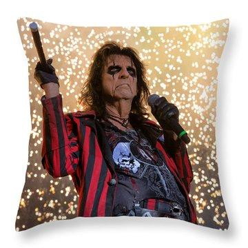 Alice Cooper Live Throw Pillow