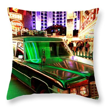 Alice Cooper's Hearse Throw Pillow