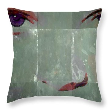 Alice In Green Throw Pillow