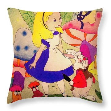 Alice Throw Pillow by Jessica Sanders