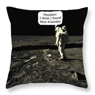 Alice Kramden On The Moon Throw Pillow