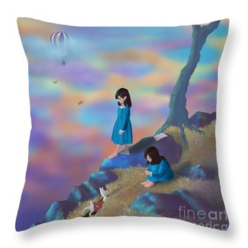 Alice's Ambivalence Throw Pillow by Audra D Lemke