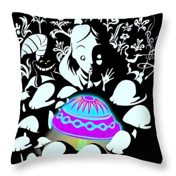 Alice's Magic Discovery Throw Pillow