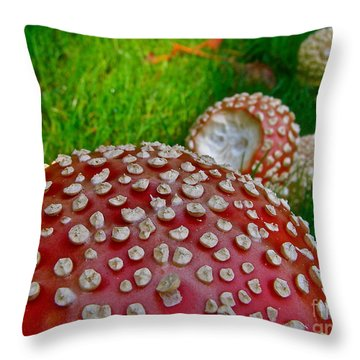 Alice's Shrooms Throw Pillow