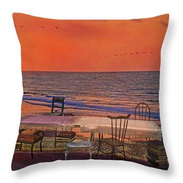 Alice's Topsail Island Tea Throw Pillow by Betsy Knapp