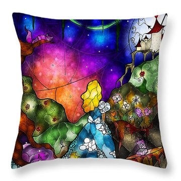 Alice's Wonderland Throw Pillow