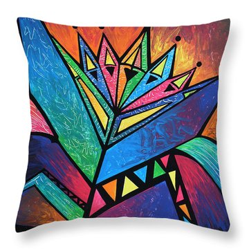 Alien Throw Pillow by Deyana Deco