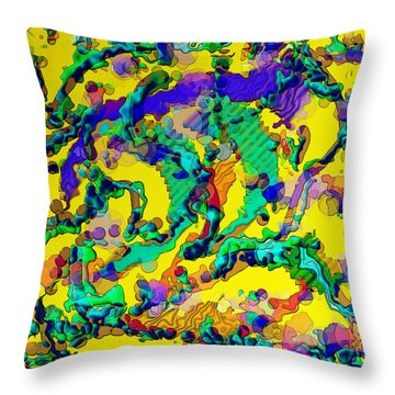 Throw Pillow featuring the digital art Alien Dna by Alec Drake