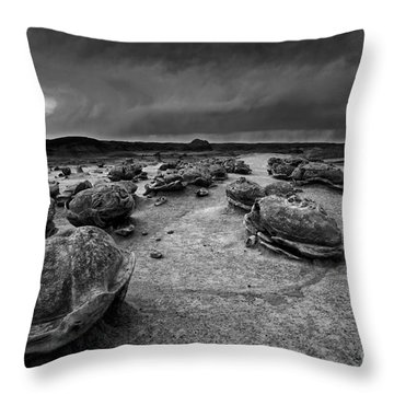 Alien Eggs At The Bisti Badlands Throw Pillow