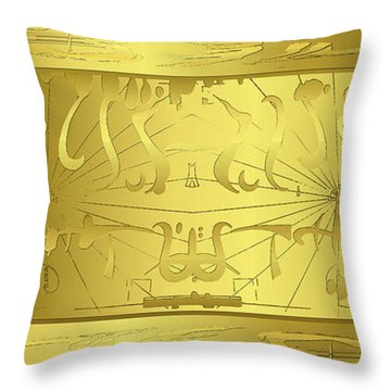 Alien Gold Symphony Throw Pillow