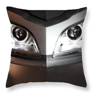 Alien Headlights  Can Am Spyder Motorcycle Throw Pillow