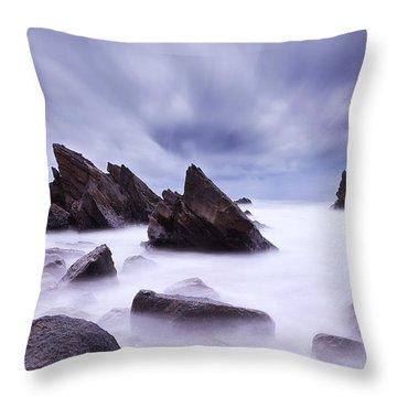 Alien Land Throw Pillow by Jorge Maia