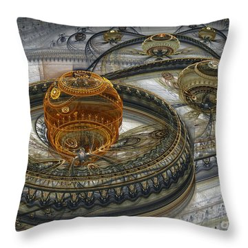 Alien Landscape II Throw Pillow