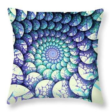 Alien Nest Throw Pillow by Anastasiya Malakhova