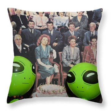 Alien Nostalgia Throw Pillow