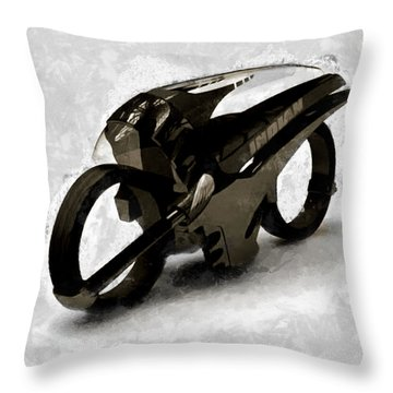 Throw Pillow featuring the photograph Alien Rider by Mario Carini