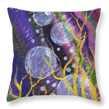 Alien Sea Throw Pillow by Vicki Maheu