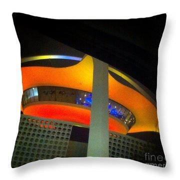 Alien Space Ship Landed Throw Pillow by Susan Garren