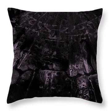 Alien Spacecraft Throw Pillow by Robert Kernodle