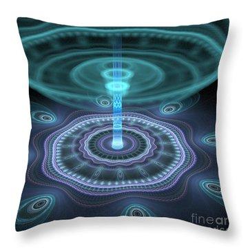 Alien Station Throw Pillow by Svetlana Nikolova