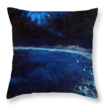 Alien Storm Throw Pillow by Murphy Elliott