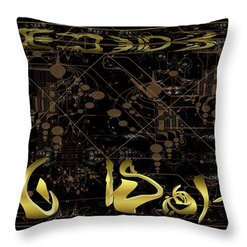 Throw Pillow featuring the photograph Alien Technical Drawing by Robert Kernodle