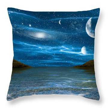 Alien Waterscape Throw Pillow by Brian Wallace