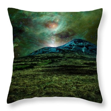 Alien World Throw Pillow by Semmick Photo