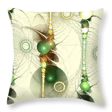 Alignment Throw Pillow by Anastasiya Malakhova