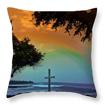 Alii Cross Throw Pillow