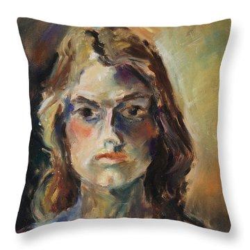 Aline Throw Pillow by Barbara Pommerenke