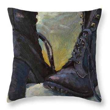 Ali's Boots Throw Pillow