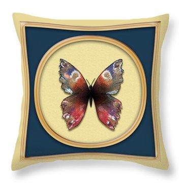 Alizarin Butterfly Throw Pillow