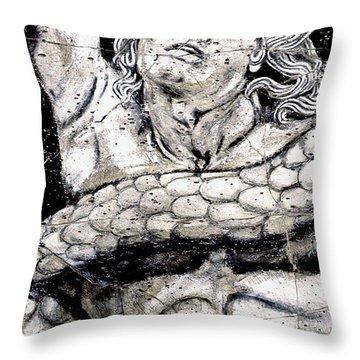 Alkyoneus - Detail No. 1 Throw Pillow by Steve Bogdanoff