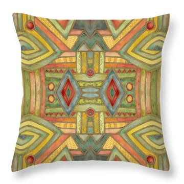 Throw Pillow featuring the painting All About E by Lora Serra