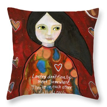All Along Throw Pillow