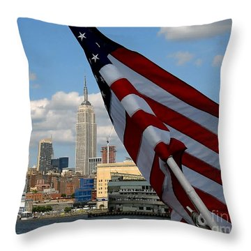 All American City Throw Pillow