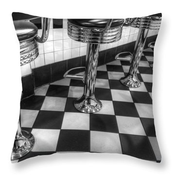 All American Diner Throw Pillow by Bob Christopher