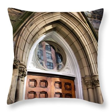 Throw Pillow featuring the photograph All Are Welcome by John S