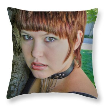 Throw Pillow featuring the photograph All At Once by Nick David