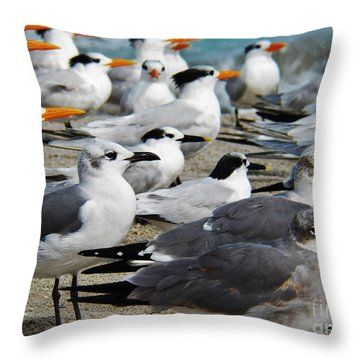 Throw Pillow featuring the painting All But One by Judy Via-Wolff