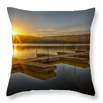 All By Myself Throw Pillow by Jeff Burton