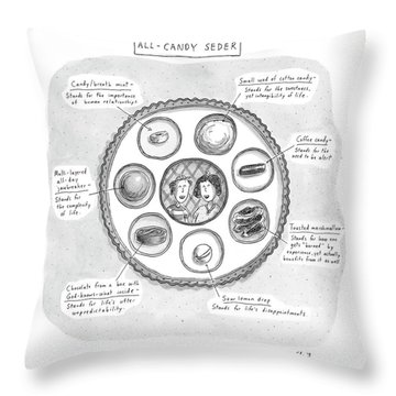 All-candy Seder Throw Pillow