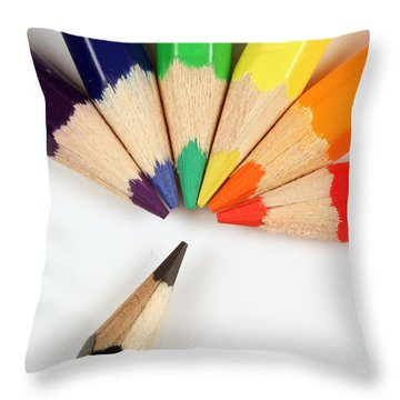 All Colors Make Black Throw Pillow