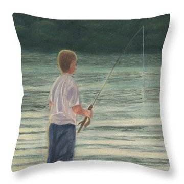All Day Long Throw Pillow by Arlene Crafton
