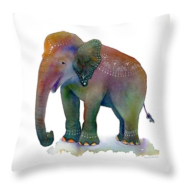 All Dressed Up Throw Pillow by Amy Kirkpatrick