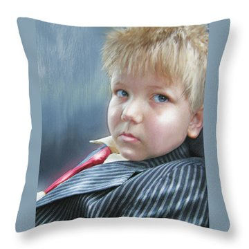 All Dressed Up And Ready For Mischief Throw Pillow by Jane Schnetlage