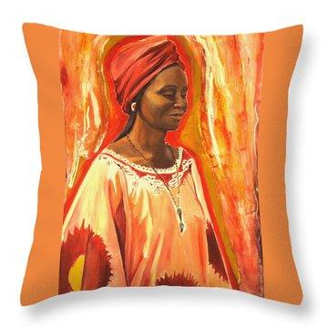All Dressed Up Throw Pillow by Sheila Diemert
