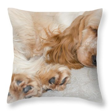 All Feet And Ears Throw Pillow